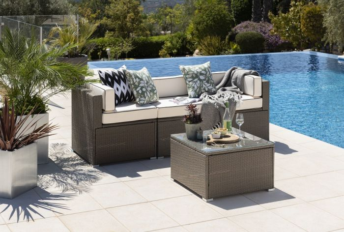 Sherborne 4 Seater Rattan Sofas- Mixed Brown- by Asha™