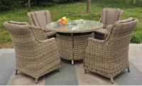 Sahara Comfort Rattan 4 Seater Set with Round Table