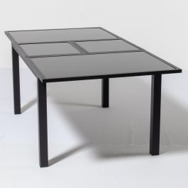 Hadleigh 1.50m - 2.10m Rectangular Extendable Table In Black By Hectare™