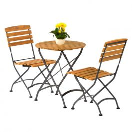 Newark Folding Round Bistro Outdoor Dining Side Chair Set