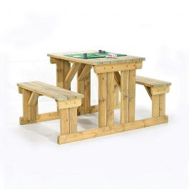 Guernsey 4 Seater Easy Access Walk-in Wooden Picnic Table