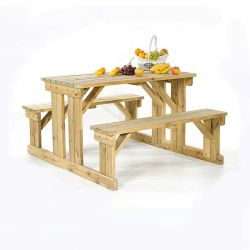 Guernsey 6 Seater Easy Access Walk-in Wooden Picnic Table