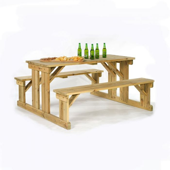 Guernsey 8 Seater Easy Access Walk-in Wooden Picnic Table