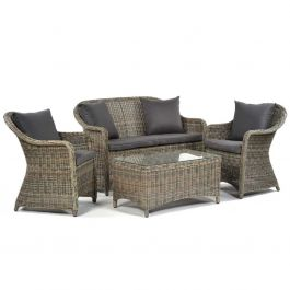 Regent Rattan 4 Seater Sofa Set