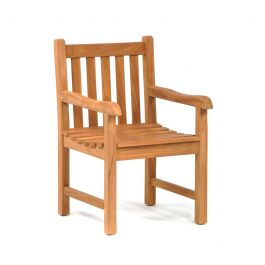92cm Benson Teak Treated Arm Chair
