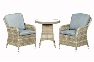 Wentworth Rattan Bistro Set | 70cm Round Table with 2 Imperial Chairs
