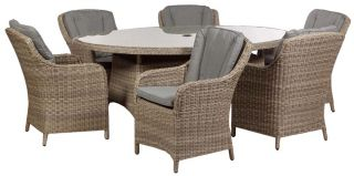Wentworth 6 Seater Imperial Rattan  Dining Set