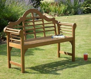 4ft 3in Natural Lutyens-Style Garden Bench