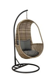 Wentworth Rattan Hanging Pod with Seat and Back Cushions
