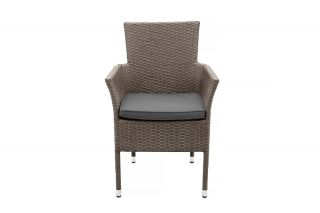 Marlow Rattan  4 Seater Rattan Dining  Set | 110cm Table with 4 Stacking Chairs