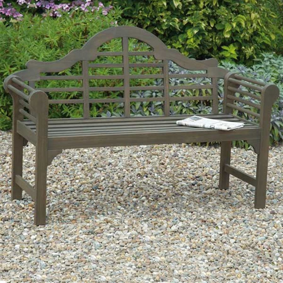 4ft 11in Brown Lutyens Style Garden Bench 163 114 99