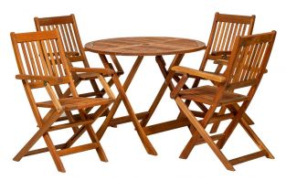 Manhattan Wooden 5 Piece Dining Set
