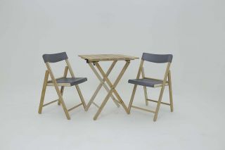 54cm Teak Wood 2 Seater Bistro Set