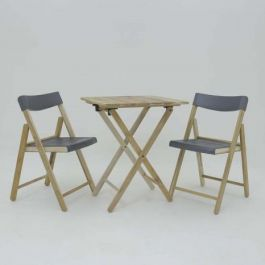200cm Teak Wood 2 Seater Bistro Set