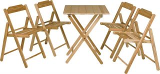 200cm Teak Wood 4 Seater Bistro Set