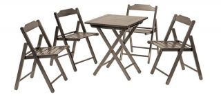 198cm Teak Wood 4 Seater Bistro Set