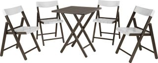 200cm Teak Wood 4 Seater Foldable Bistro Set