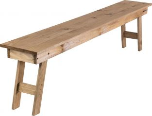 200cm Pine Wood 4 Seater Bench