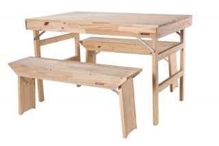 200cm Pine Wood 8 Seater Dining set