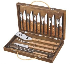 Stainless Steel 17 Piece BBQ Accessory Utensils Set