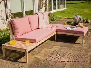 Wareham Wooden Garden Sofa Corner Platform Set - By Liz Frances™