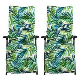 Hadleigh Pair of Leaf Pattern Recliner Lounger Chairs by Hectare®