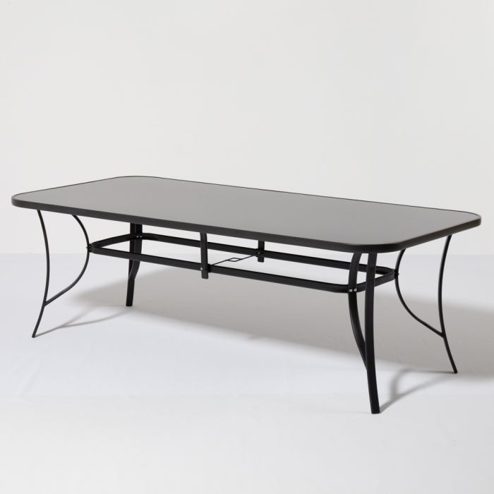 Kennet 2.10m Rectangular Table - Black - By Hectare™