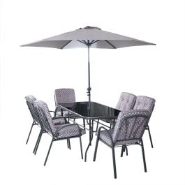 Hadleigh 6 Seater Garden Dining Furniture Set In Grey By Hectare®