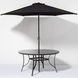 Kennet 2.7m Crank Parasol In Black By Hectare™