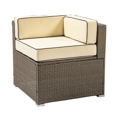 Sherborne Rattan Corner Chair - Mixed Brown - by Asha™