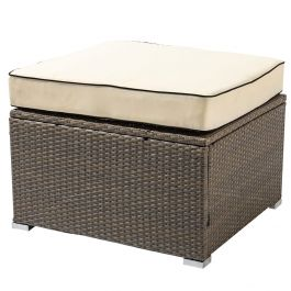 Sherborne Rattan Modular Table/Ottoman - Mixed Brown - by Asha™