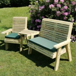 Wooden Trio Bistro Seating Set
