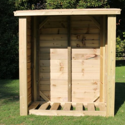 Heavy Duty Wooden Logstore - 1.5m (5ft)