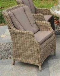 Sahara Highback Ultimate Comfort Rattan Armchair with Cushions