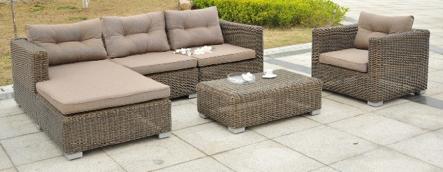 Sahara rattan chaise longue modular 4 seater sofa set for Albany sahara sectional sofa chaise