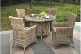 Modena Rattan Round 4 Seater Garden Furniture Set