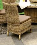 Modena Rattan Side Chair with Cushion