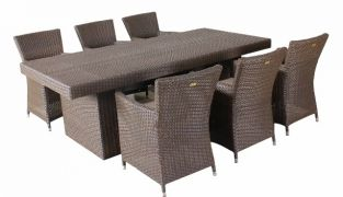 Provence Rattan Rectangular 6 Seater Garden Dining Set
