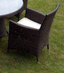St. Tropez Carver Wicker Chair with Cushion