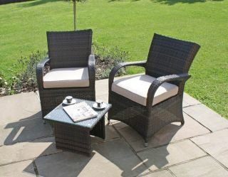 Maze Rattan - Texas 2 Seater Rattan Lounge Set in Brown