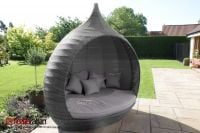 Maze Rattan - Pear Daybed in Grey