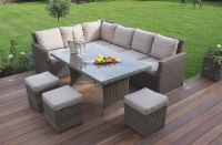 Maze Rattan - Winchester Kingston Corner Sofa Dining Set