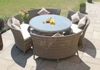 Maze Rattan - Dallas 6 Seater Oval Dining Set