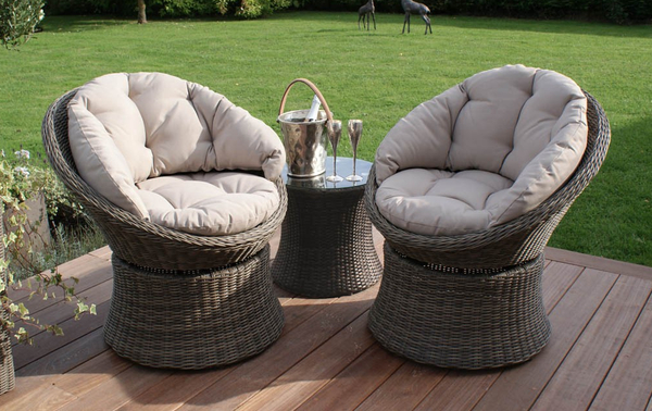 Maze Rattan - Winchester 2 Seater Swivel Lounge Set