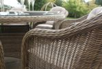 Maze Rattan - Winchester Oval 6 Seater Dining Set with 2 Cava Chairs and 4 Armless Chairs