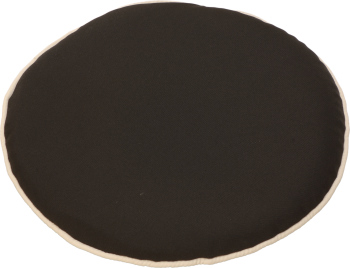 Glencrest CC Black Round Pad Cushions Set of Two