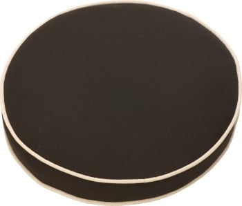 Glencrest Bespoke Black Round Pad Cushion Set of Two