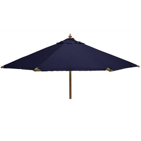 Glencrest Sturdi Plus FSC Eucalyptus Round Parasol with Pulley in Blue - W3m