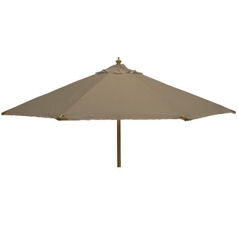 Glencrest Sturdi Plus FSC Eucalyptus Round Parasol with Pulley in Taupe - W3m