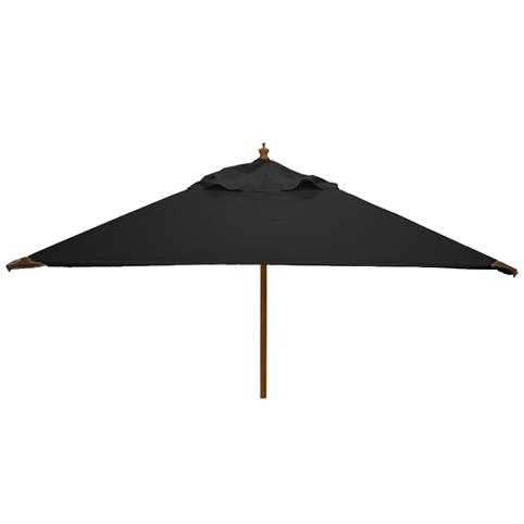 Glencrest Sturdi Plus FSC Eucalyptus Square Parasol with Pulley in Black - W2m
